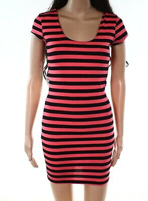 a476be3fe Charlotte Russe NEW Pink Womens Size Small S Striped Sheath Dress $40- 461