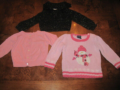 Girls Sweater Lot Size 18 Mos Children's Place Snowman Pink Osh Kosh George
