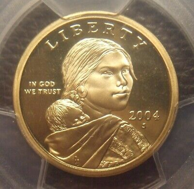 2004 S Deep Cameo Proof Sacagawea Dollar, Great Detail, Pcgs Graded Pr69Dcam