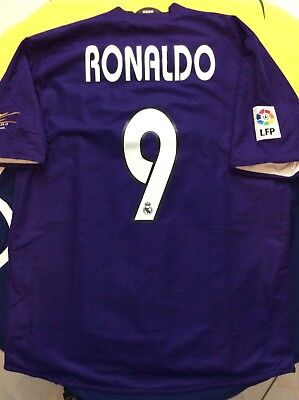 """info for 660ff 4acf2 2002/2003 ADIDAS REAL Madrid 3rd Kit Soccer Jersey """"Ronaldo 9"""" NWT LRG  *defect*"""