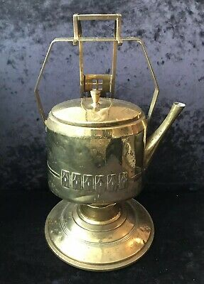 Art Nouveau Arts & Crafts Brass Spirit Kettle