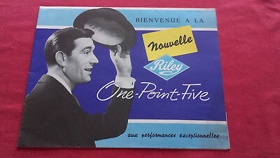 Catalogue publicitaire Riley 1.5 1958 en français