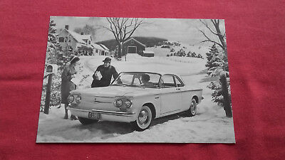 Carte postale Chevrolet Corvair coupe 1961
