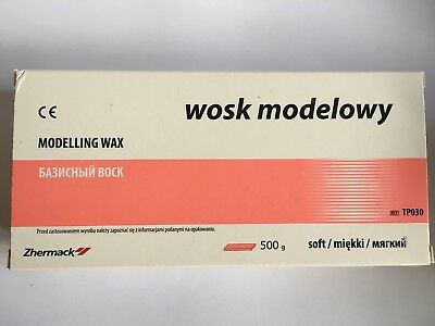 Dental modelling wax 500g 21 plates soft Zhermack