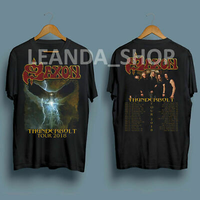 SAXON T-Shirt Thunderbolt 2018 Tour T Shirt S to 5XL