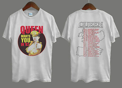 Space QUEEN 1982 Tour Concert T Shirt S to 5XL