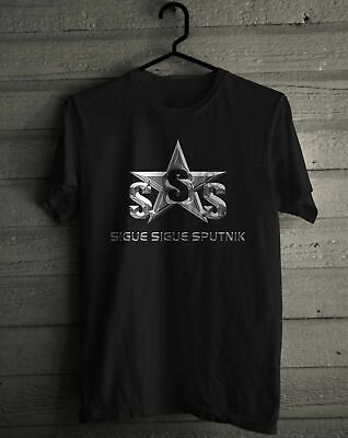 SIGUE SIGUE SPUTNIK SSS silver logo new wave punk band S to 5XL