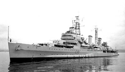 Royal Navy Light Cruiser Hms Belfast At Vancouver British Columbia In 1962