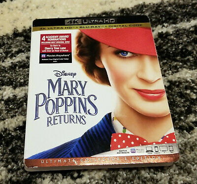 (Slipcover Only) 4K Mary Poppins (No Blu-ray Discs No Digital Code)
