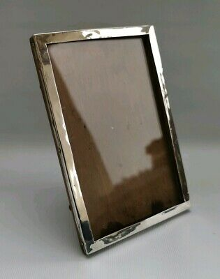 """Vtg 1925 Sanders & Mackenzie Solid Silver & Wood Picture Photo Frame 3¼"""" X 5¼"""""""