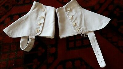 SPATS Edwardian Original White Cotton with Buttons