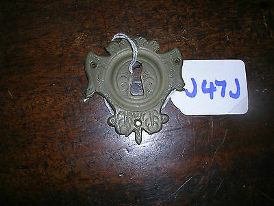 Antique Brass Escutcheon (J47J)