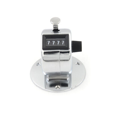 4 Digit Manual Hand Tally Mechanical Palm Click Counter Round Base RG