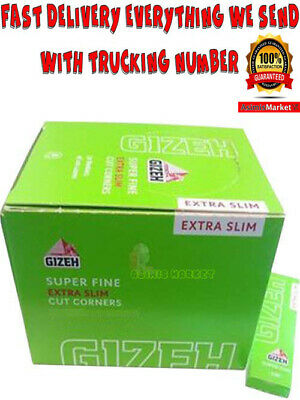 Gizeh Extra Slim Super Fine Cut Corners FULL BOX 50 Booklets x 66 leaves