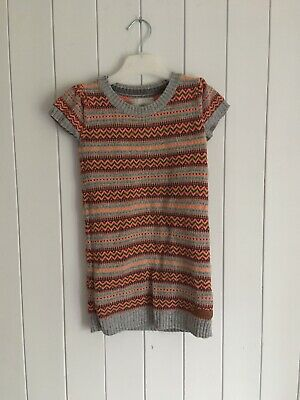Girls knitted dress size 4-6 years multi coloured L.O.G.G H&M