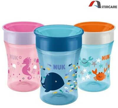 NUK Magic Cup Sippy Cup, 360° Anti-Spill Rim, BPA-Free, 8+ Months (Choose Your)