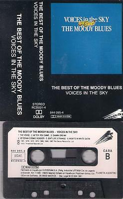 THE MOODY BLUES Voices in the Sky SPANISH cassette PAPER LABEL SPAIN
