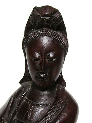 GuanYin statue in Chinese rosewood