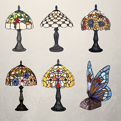 Handmade Stained Tiffany Glass Colourful Table Bedside Home Decor Lamp Light