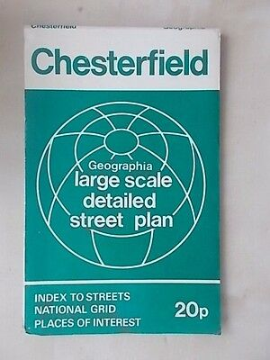 Vintage Geographia Large Scale Detailed Street Plan Chesterfield