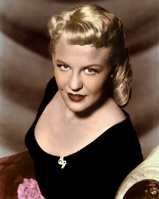 """PEGGY LEE  SINGER HOLLYWOOD ACTRESS 1958 8x10"""" HAND COLOR TINTED PHOTOGRAPH"""