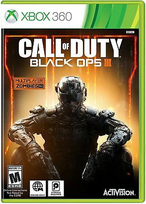 Xbox 360 Call of Duty: Black Ops III 3 Authentic US Free Shipping