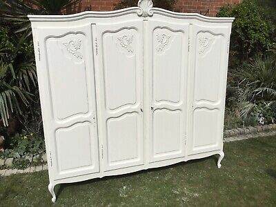Beautiful Vintage French Louis XV 4 Door OAK Armoire Wardrobe
