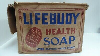 Vintage Lifebuoy Soap Lever Brothers Ltd Sydney Advertising Sign Printed Box