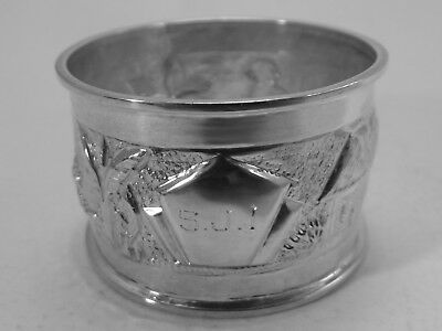 Good HM Silver Napkin Ring (465a) Marked sterling silver prob Chinese or Indian