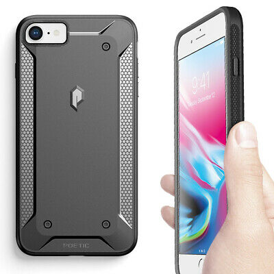 Heavy Duty Shockproof Protective PC+TPU Case For iPhone 7 / iPhone 8 Black