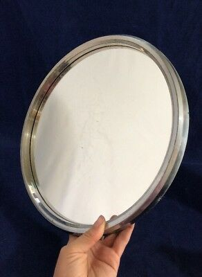 VIntage Art Deco Round French Mirror Cocktail Tray Display Jewellery 1930s