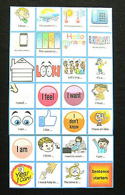 Sentence starter & Id cards  Autism/ADHD/Visual Communication Aids/PECS/Dementia