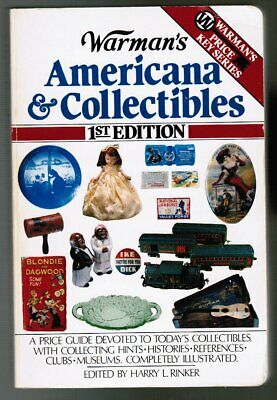Warman's Antiques & Collectibles Price Guide #1 (`84,TPB BOOK: Elvis,TITNIC,etc,