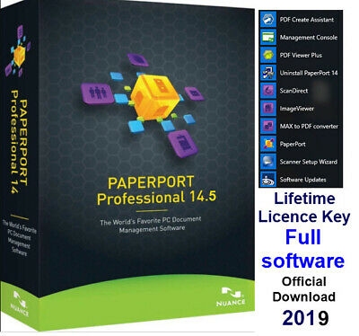 Nuance PaperPort 14.5 Professional scanning, converting,editing documents-Full