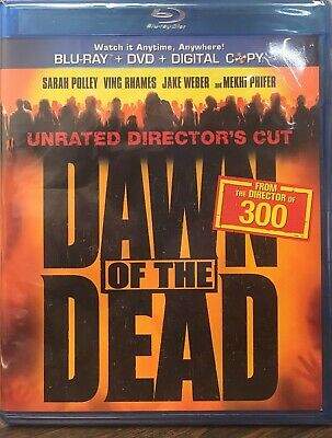 Dawn of the Dead (Blu-ray/DVD, 2011, 2-Disc, Unrated, Digital) NEW SEALED