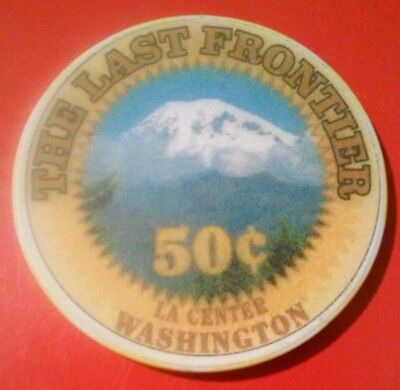 The Last Frontier Casino Washington Mtn. Logo .50 Cent Chip Great For Collection