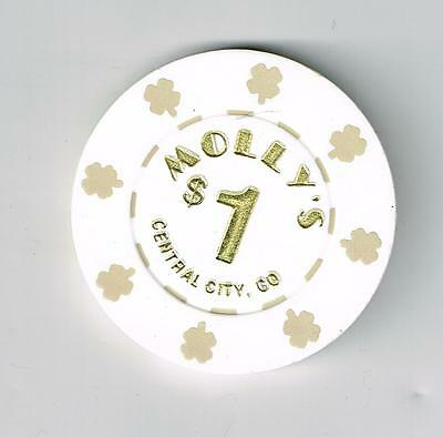 1991 - 1992 Molly's Casino Central City, Colorado $1.00 Xxxxx Rare Chip!