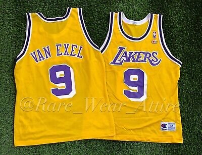 1da53e1a7 AUTHENTIC NICK VAN Exel Vintage Los Angeles Lakers NBA Swingman ...