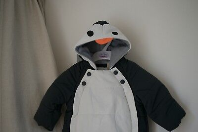 NEW MARKS AND SPENCER PRAM PENGUIN SUIT with STORMWEAR   CUTE & COSY