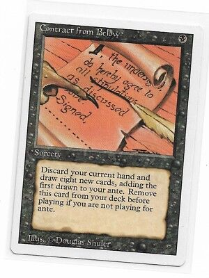 Magic The Gathering ~ 1x Contract from Below ~ REVISED ~ M/NM