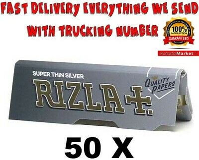 Rizla Silver Rolling Papers 50 Booklets Super Thin Standard Regular Size