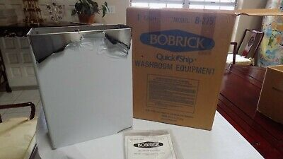 BRAND NEW Bobrick B-279 Stainless Steel Public Restroom Trash Can