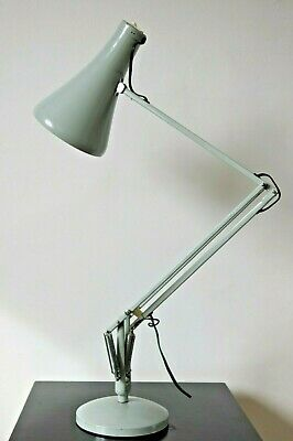 Vintage Dove Grey Herbert Terry Anglepoise Model 75 Desk Lamp 1968