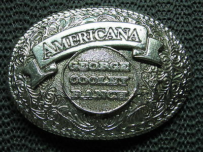 Americana George Cooley Ranch Belt Buckle! Vintage! Very Rare! Heavy! Look!