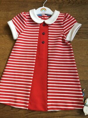 Little Bird Jools Oliver Retro Red Girls Dress 12-18 Months 🌈🍄BNWT 🌈