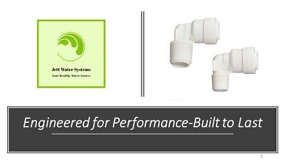 "3 Pack RO Water Fitting (1/4"" Push to Connect x 1/4"" NPTF Elbow)"