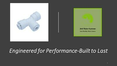 """3 Pack RO Union Tee Water Fitting (3/8"""" Push to Connect)"""