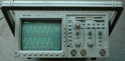 Tektronix TDS360 200Mhz Digital Oscilloscope, Calibrated, Power Cord Works Great