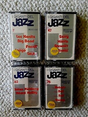 Lot of 4 Factory Sealed I GIGANTI DEL JAZZ CASSETTE TAPES #s 7, 47, 62, 76 ITALY