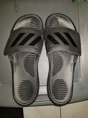 f0c8a0c06 Mens Adidas Alphabounce Black Slides Athletic Sport Sandals Size 13 (USED  ONCE)!
